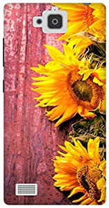 The Racoon Lean Fresh Sunflowers hard plastic printed back case for Huawei Honor 3C