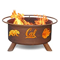 Patina 31 in. College Fire Pit with Gril...