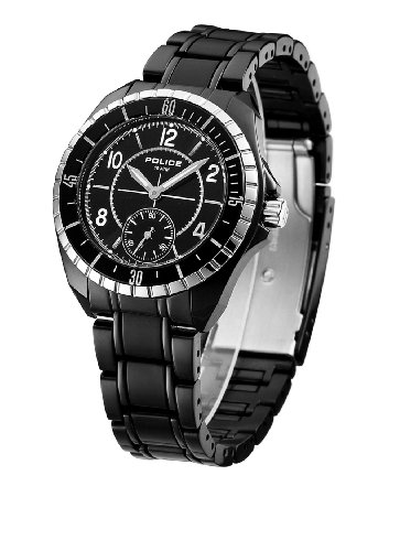 Police Navy III Black IP Watch 12207MSTB/02M