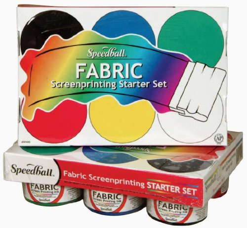 Speedball Fabric Screen Printing Ink Starter Set