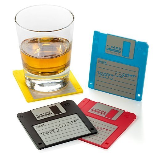 Floppy Disk Drink Coasters by Dunk Trading
