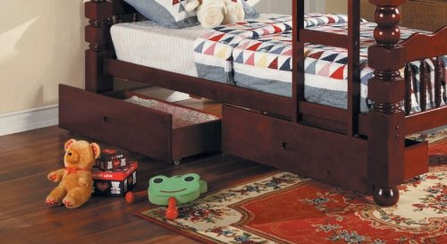 Best Price Acme 02574C 2-Piece Benji Drawers for 4-1/2 Post Twin Bunk Bed, Cherry Finish