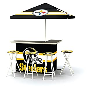 Best of Times NFL Patio Bar and Tailgating Center Deluxe Package- Pittsburgh Steelers by Best of Times, LLC