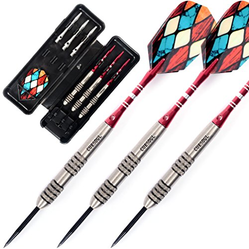 Review Cuesoul 23 Grams Tungsten Steel Tip Darts Set 90% Tungsten