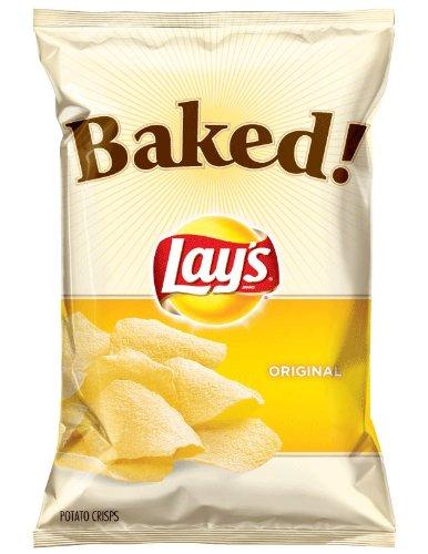 Baked! Lay'S Original Potato Crisps, 6.5Oz Bags (Pack Of 7)