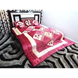 Peponi Velvet Pink Wedding Bedding Set 8 Pcs (Quilt, Double Bed Sheet, 2 Pillow Covers, 2 Filled Cushions, 2 Filled...