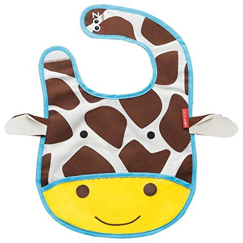 Skip Hop Zoo Pouch Bib Giraffe - Bavaglino con sacchetto