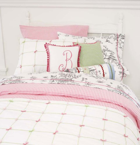 Rr Sale - Pink Gingham Check Twin Duvet Cover