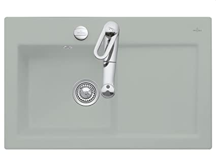 Villeroy & Boch Subway 45 Fossil Ceramic Kitchen Sink Countertop Sink Mat Grey