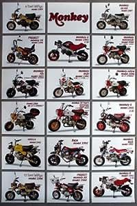 As 373 honda monkey mini bike motorcycle collection wall for 70 bike decoration