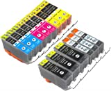 15 Pack Compatible Canon 226 and 225 Ink Cartridges for Pixma MG5120 MG5220 MG5320 MG6120 MG6220 MG8120 MG8220 MX712 MX882 MX892 © YoYoInk