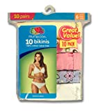 51wx6OfMu9L. SL160  Fruit Of The Loom Womens 10 Pack Cotton Bikini, Wardrobe, 5