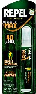 Repel 94095 0.475-Ounce Sportsman Max 40-Percent Deet Insect Repellent Pen Size Pump Spray, Case Pack of 1