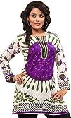 Indian Tunic Top Womens Kurti Printed Cotton Blouse Indian