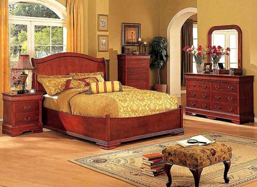 5pcs Traditional All Wood Bedroom Set