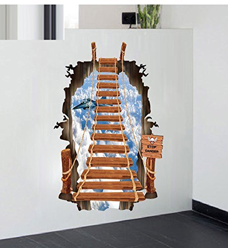 Art Creative Wall Decals Loomin 3D Exquisite Child Room Decor Wall Sticker PVC Decal Decor Mural (Scaling Ladder)