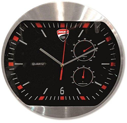 ducati-corse-aluminum-and-glass-wall-clock-black-987691020-battery-operated