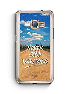 YuBingo Never Stop Dreaming Designer Mobile Case Back Cover for Samsung Galaxy J1 2016