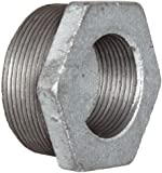 Anvil Cast Iron Pipe Fitting, Class 150, Hex Bushing, NPT Male x NPT Female, Galvanized Finish