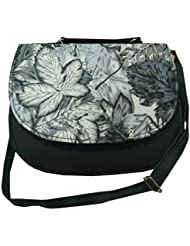 Navaksha Floral Print Design Women's Clutch-Black