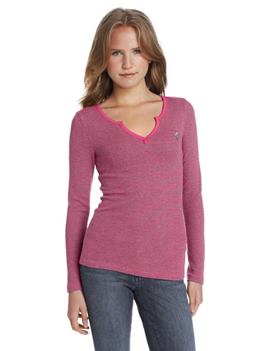 U.S. Polo Assn. Women'S Long Sleeve Thermal, Berry Bug, X-Large