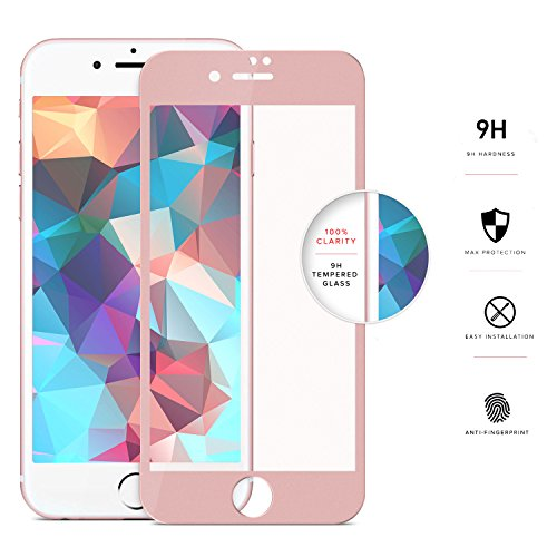 ZIZO iPhone 7 Screen Protector [Edge to Edge] Curved Tempered Glass to [Fully Cover] w/ [9H Hardness] Bubble Free [Anti-Scratch] Ultimate Clarity