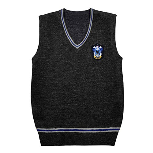 [Unisex Cosplay Costumes Sweater Fall and Winter Vest With Badges (Medium, Ravenclaw)] (Hogwarts Costumes For Girls)