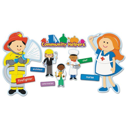 Carson-Dellosa Publishing Community Helpers Bulletin Board Set, 20 Different Characters, 41 Pieces