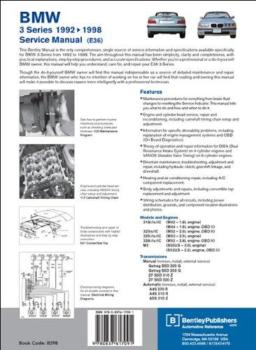 bmw 3 series e36 service manual 1992 1993 1994 1995 html. Black Bedroom Furniture Sets. Home Design Ideas