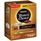 Nescafe Taster's Choice Instant Coffee Beverage, Hazelnut,16-0.1 oz packets(Pack of 8) (Tamaño: Pack of 8)