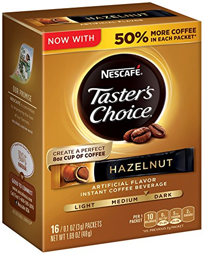 Nescafe Taster's Choice Instant Coffee Beverage, Hazelnut (Pack of 8) (Instant Flavor Coffee compare prices)