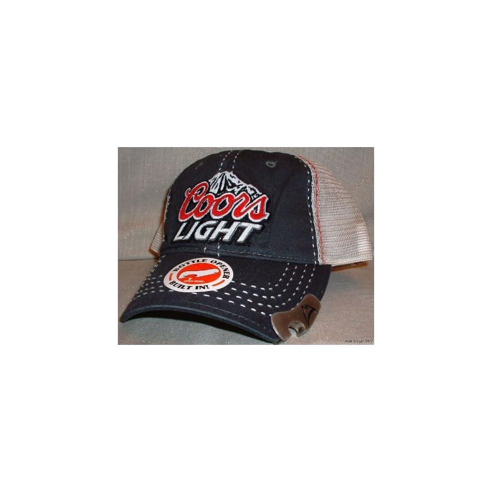 COORS Light Beer w/Bottle Opener Logo Mesh Cap HAT