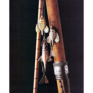 Vintage Old Wood Fishing Pole And Lures Picture 8x10 Art Print
