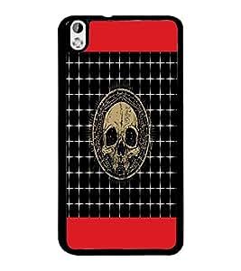 PrintDhaba Skull D-4743 Back Case Cover for HTC DESIRE 816 (Multi-Coloured)