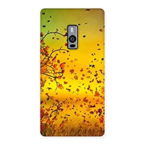 Delighted Flying Autumn Leaves Back Case Cover for OnePlus Two