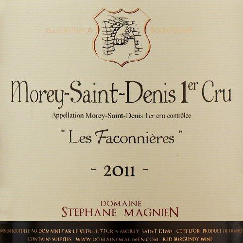 """2011 Domaine Stephane Magnien """"Les Faconnieres,"""" Morey-Saint-Denis 1Er Cru 750 Ml"""
