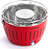 Lotus Grill - The Smokeless Charcoal Barbecue Grill, Regular Size, Blazing Red, #10101