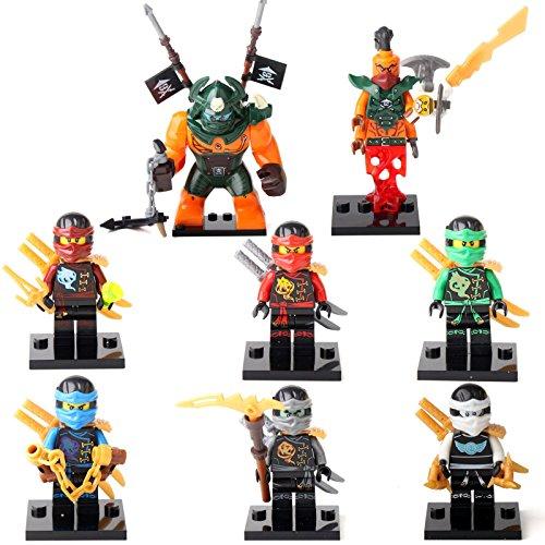 Ninja Ninjago Jay Cole Lloyd Dogshank Nadakhan 8 Minifigures Building Toys (Lightning Foto compare prices)
