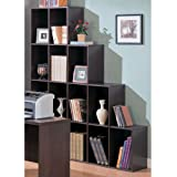 Contemporary Home Office Cube Bookcase Display Shelves