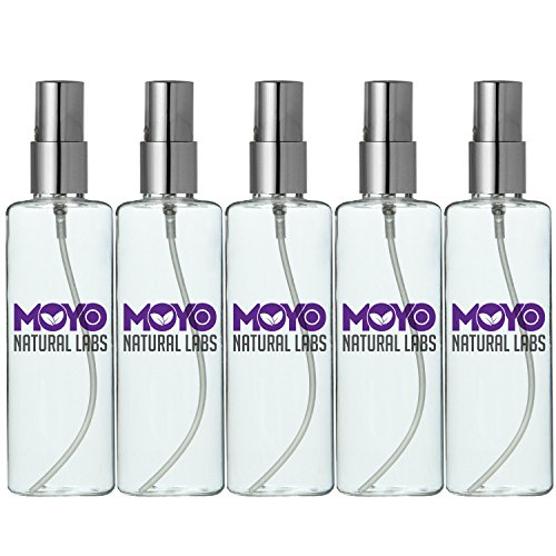 MoYo Natural Labs Large Durable Fine Mist Perfume Spray Bottle with Elegant Silver Cap 3.4 oz Travel Bottle Spray Mist Bottle Set Quantity 5 BPA (Hot Water Cologne Oil compare prices)