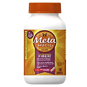 Metamucil Psyllium Fiber Supplement Capsules 160 Count (Pack of 2)