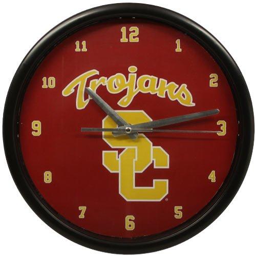 NCAA USC Trojans Black Rim Basic Clock
