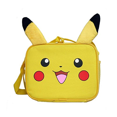 Nintendo Little Boys' Plush Pikachu Lunch Bag - 1