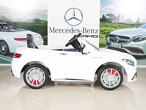 Mercedes Power Wheels >> Mercedes Benz S63 Ride On Car Kids Rc Car Remote Control Electric Power Wheels W Radio Mp3 White