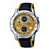 Casio WVQ-550LE-9AVER Wave Ceptor Radio Controlled Mens Combi Leather/Cloth Strap Watchby Casio