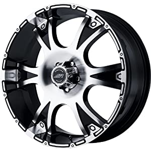 American Racing Dagger 17x8 Machined Black Wheel / Rim 5x5 with a 12mm Offset and a 78.30 Hub Bore. Partnumber AR88978050312