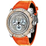 Glam Rock Women's GR80104 Special Edition Collection Chronograph Diamond Leather Watch