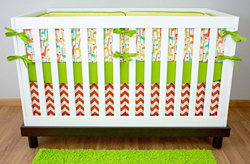 Modified Tot Crib Bedding, Giraffe Love