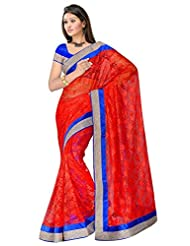 Sehgall Saree Indian Bollywood Designer Ethnic Professional Designer Material Super Net Red