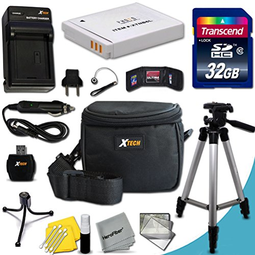 Ultimate 20 Piece Accessory Kit for Canon Powershot SX530 HS, SX610 HS, SX710 HS, SX520 HS, SX600 HS, SX700 HS, SX510 HS, SX500 IS, SX280 HS, SX260 HS, SX170 IS, SD1300 IS, SD1200 IS, SD980, SD770, SD1300, D30, D20, D10, IXUS 85 IS, IXUS 95 IS, IXUS 200 IS Digital Cameras Includes 32GB High Speed Memory Card + 1 High Capacity NB-6L / NB6LH Lithium-ion Battery with Quick AC/DC Charger + 60
